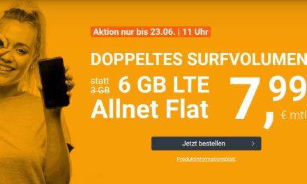 6 GB Allnet-Flat von winSIM im LTE Netz von o2 für 7,99€ monatlich