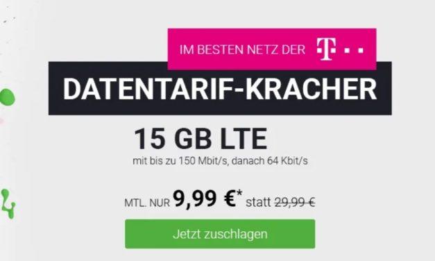 15 GB reiner Datentarif im LTE Netz der Telekom für 9,99 € monatlich