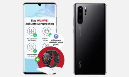 Huawei P30 Pro 4,95 € – Allnet – 20 GB – o2 Free M – 29,99 € monatlich