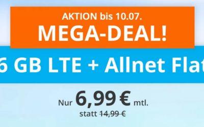 **ABGELAUFEN** 6 GB & Allnet-Flat von sim.de im LTE Netz von o2 für 6,99 € monatlich
