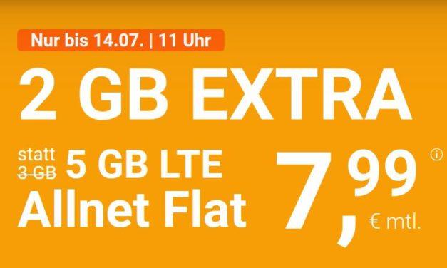 5 GB & Allnet-Flat von winSIM im LTE Netz von o2 für 7,99 € monatlich