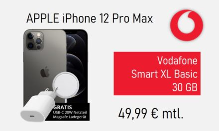 iPhone 12 Pro Max – Allnet – 30 GB – Vodafone – 49,99 € mtl.
