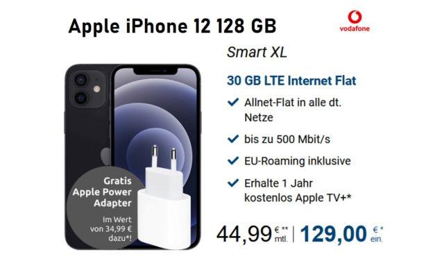 iPhone 12 – Allnet – 30 GB – Vodafone Netz – 44,99 € mtl. – GigaKombi möglich