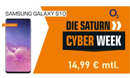 Samsung Galaxy S10 – Allnet – 6 GB – o2 Netz – 14,99 € mtl.