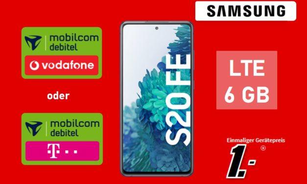 Samsung Galaxy S20 FE – Allnet – 6 GB – md Vodafone Netz/Telekom Netz – 19,99 € mtl.