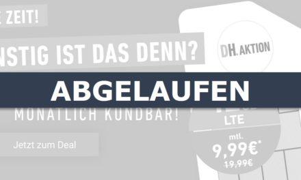 **TopDeal** 12 GB – Allnet-Flat von DeinHandy.de – LTE Netz von o2 – 9,99 € mtl. – mtl. kündbar!