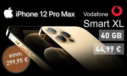 iPhone 12 Pro Max – Allnet – 40 GB – Vodafone Netz – 44,99 € mtl.