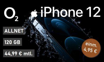 iPhone 12 – Allnet – 120 GB – o2 Netz – 44,99 € mtl.
