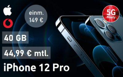 iPhone 12 Pro – Allnet – 40 GB – Vodafone Netz – 44,99 € mtl.