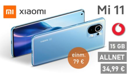 Xiaomi Mi 11 – Allnet – 15 GB – Vodafone Netz – 34,99 € mtl.