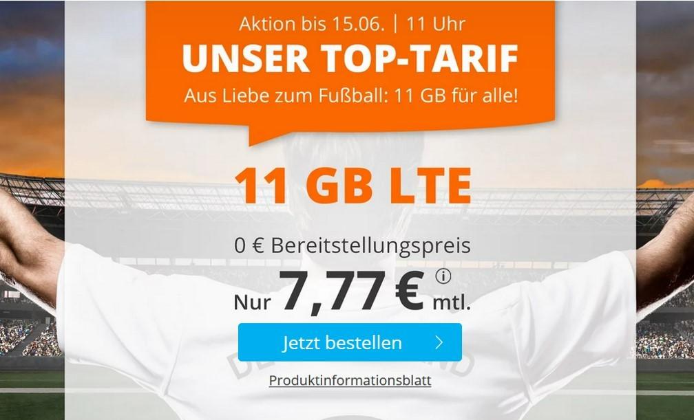 Allnet-Flat von allmobil - LTE Netz von Vodafone - 7,99 € mtl.