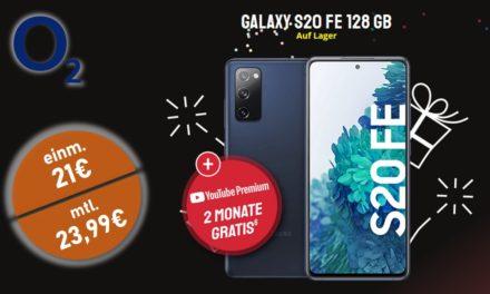 Samsung Galaxy S20 FE – Allnet – 20 GB – o2 Netz – 23,99 € mtl.