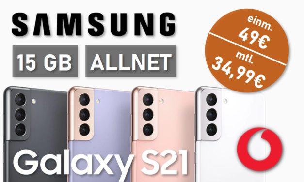 Samsung Galaxy S21 – Allnet – 15 GB – Vodafone Netz – 34,99 € mtl.