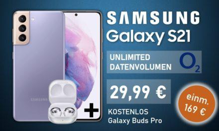 Galaxy S21 – Allnet – Unlimited GB – o2 Netz – 29,99 € mtl.